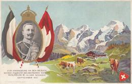 Zur Erinnerung An Den Besuch Seiner Majestät Des Deutschen Kaisers Wilhelm II In Der Schweiz Septembre 1912 - Otros