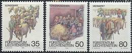 Liechtenstein, 1989, Autumn Traditions, MNH, Michel 971-973 - Ohne Zuordnung