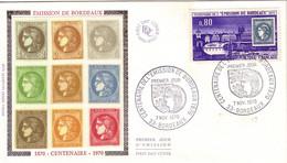 GIRONDE - BORDEAUX - CENTENAIRE DE L'EMISSION DE BORDEAUX - 7-11-1970. - 1960-1969