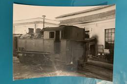 Locomotive MCL - Photo Train Gare - Italie Società Mediterranea Ferrovie Calabro Lucane FCL Chemin Ferloc Loco Vapeur - Trains
