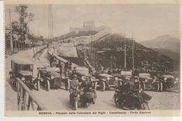 535-Auto-Genova-Automobili E Moto D' Epoca In Piazzale Della Funicolare Del Righi-Castellaccio-Forte Sperone-v.1928 X CT - Sin Clasificación