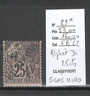 Nouvelle Calédonie - Yvert 29* - 25 Cts Alphée Dubois - SIGNE MIRO - Nuovi