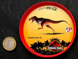 Ancien Sous-bock Métal Coupelle COCA COLA - JURASSIC PARK Tyrannosaurus Rex - Altri