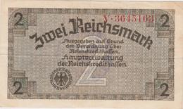 DEUTSCHLAND, Reichskreditkassen, 2 Reichsmark (1940-45), Handstamp Waffen SS - Behelfszahlungsmittel - Dt. Wehrmacht