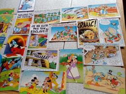 55  CARTES DISNEY CARTOON  ASTERIX MICKEY ECT - 5 - 99 Postkaarten