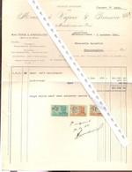 FACTURE BRASSERIE   Marchienne Au Pont   1951 - Lebensmittel