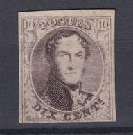 N° 6 ( X )  Neuf Sans Gomme  Demi Lettres En Filigrane  Cob 550.00 - 1851-1857 Medallones (6/8)