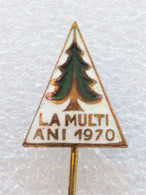 HAPPY NEW YEAR 1970 ROMANIA -  Christmas TREE, NTIONAL PARK, NATURE FLORA Green / EXRA RARE !!! - Natale