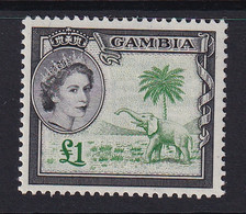 Gambia: 1953/59   QE II - Pictorial   SG185     £1     MH - Gambia (...-1964)