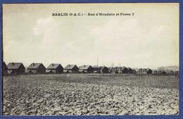 CPA PAS-DE-CALAIS (62) - BARDIN - RUE D'HOUDAIN ET FOSSE 7 - Barlin