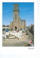 CPM - 44 - BLAIN - L'Eglise St Laurent  - Petite Animation - TBE - - Blain