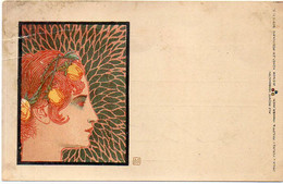 MOSER Koloman - Philipp & Kramer - Femme Art Nouveau Au ProfilGrec -Série IV/7 (6691 ASO) - Moser