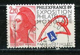 """FRANCE - PHILEXFRANCE 89 - N° Yvert 2524 Obli. Ronde De """"CULOZ De 1989 """" - Oblitérés"""
