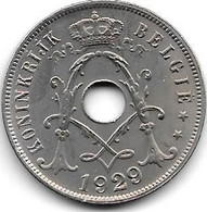 Belguim 25 Centimes 1929 Dutch Vf++ - 05. 25 Centesimi