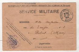 MAROC RABAT RESIDENCE 1955 - SERVICE MILITAIRE - RECEPISSE DECLARATION DE CHARGE DE FAMILLE - Documents