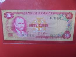 JAMAIQUE 50 Cents 1970 Circuler (B.22) - Jamaica