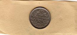 Monnaie Du Chili 20 Centavos 1922 Cupronickel En TTB - - Chile