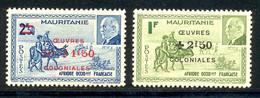 Mauritanie 1944 Yvert 131 / 132 ** TB Bord De Feuille - Unused Stamps