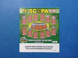 ITALIA BIGLIETTO LOTTERIA GRATTA E VINCI USATO € 2,00 FAI SCOPA NEW VARIANTE LOGO STELLA CON EMBLEMA REP LOTTERY TICKET - Billetes De Lotería