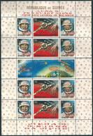 C1652 Guinea Space Travelling Manned Flight Voskhod-2 Walk Astronaut Ovprt S/S Mint No Gum Separeted - Africa