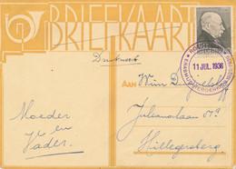 Nederland - 1936 - 1,5 Cent Zomerzegel Kamerlingh Onnes Op Drukwerk Erasmus Herdenking Lokaal Rotterdam - Briefe U. Dokumente