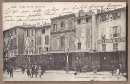 CPA 84 - APT - Place De La Bouquerie TB PLAN CENTRE VILLE ANIMATION Devantures Café Hôtel Terrasses TB Oblitération 1909 - Apt