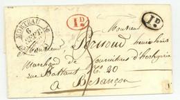 Les Gras Pontarlier MORTEAU Pour Besancon Horlogerie LAS Garnache 1832 - 1801-1848: Précurseurs XIX