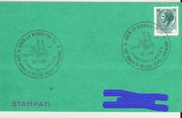 LA MADDALENA(SASSARI) CARTONC.CON ANNULLO 175 ANN.DI NELSON VERSO TRAFALGAR 1980 - 1971-80: Marcophilia