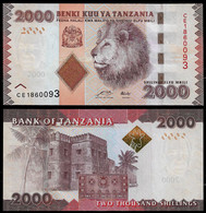 TANZANIA BANKNOTE - 2000 SHILINGI (2010) P#42a UNC (NT#03) - Tanzania