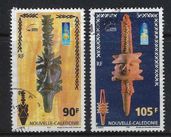 """Nle-Caledonie YT 823 & 824 """" Musée """" 2000 Oblitéré - Used Stamps"""