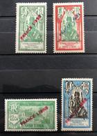 INDE 1941 - NEUF*/MH - Série YT 135 / 138  - SURCHARGE FRANCE LIBRE - CV 15 EUR - Unused Stamps