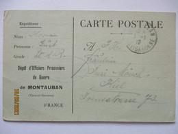Frankreich Kriegsgefangenenpost POW Lager Montauban 1919 Nach Kiel (43901) - War 1914-18