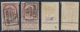 "Fine Barbe - N°55 Préo ""Bruges (station) 1903"" Position A/B. Complet / Cote 20e+ - Rollini 1900-09"