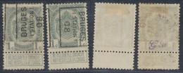 """Armoiries - N°81A Préo """"Bruges (station) 07"""" Position A/B. Complet / Cote 20e - Rollini 1900-09"""