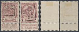 """Armoiries - N°82 Préo """"Bruges (station) 09 Position A/B. Complet / Cote 20e - Rollini 1900-09"""