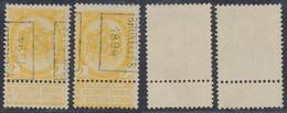 "Fine Barbe - N°54 Préo ""Bruxelles 1894"" Position A/B Incomplet - Roller Precancels 1894-99"