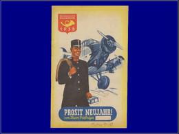 Avions - Année: 1938 - AUTRICHE:Avion* Postal,PUB:téléphone*,auto* - Aerei