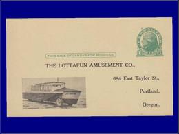 """Sécurité Routière - Année: 1933 - USA,CP (N) 1C. VERT:""""Lottafun"""".Véhicule* Mixte,autobus*bateau*.(Amusant). - Automobili"""