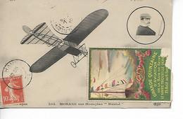 AVIATION Erinnophilie MORANE Sur Monoplan Blériot Vignette Touchée Grande Quinzaine D'Aviation De La Baie De Seine    .G - ....-1914: Precursores