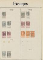"""Armoiries / Albert I / Houyoux - Pages De Collections + Plaquette Préo """"Brugge ... Bruges"""" (1911 > 1930). Bel Ensemble ! - Roller Precancels 1910-19"""