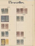 """Fine Barbe / Armoiries - Pages De Collections + Préo """"Bruxelles..."""" (1894 > 1906). Forte Cote 200e + - Roller Precancels 1894-99"""