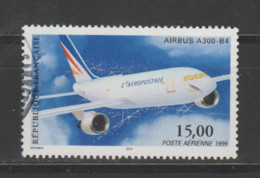 FRANCE / 1999 / Y&T PA N° 63 : Airbus A300-B4 (de Feuille) - Choisi - Cachet Rond - 1960-.... Used