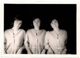 C.1950 Les Triplées Ou Surrealisme - Photo Montage ? Surrealiste - Personas Anónimos