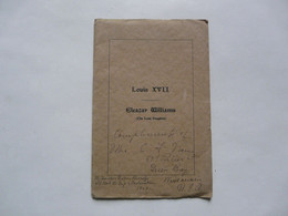 LOUIS XVII - Eleazar WILLIAMS (The Last Dauphin) 1929 - Europe