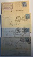 """""""DAGUIN"""" Sur Sage 15c. N°90 Et 101- 11 Lettres 1885 - 1891 - 1877-1920: Semi Modern Period"""