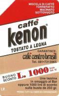 *ITALIA: CAFFE' KENON* - Scheda Usata (OCR NUMERICO) - Errori & Varietà