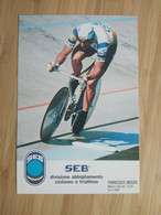 Cyclisme - Carte Publicitaire SEB : Francesco MOSER - Cycling