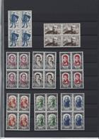 Colections De 60 Timbres Neufs Sans Charnière En Bloc De 4 Du N°863 Au N° 920 Avec Série Danton ( Cote + De 460 Euros ) - Sammlungen