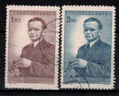 Tchécoslovaquie 1951 Mi 699-700 (Yv 608-9), Obliteré - Used Stamps