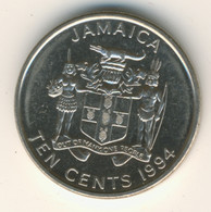 JAMAICA 1994: 10 Cents, KM 146.1 - Jamaica